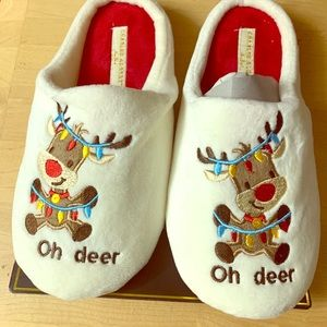 charles albert indoor sandals slipper white medium